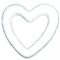 Сердце контур из пенопласта 80мм