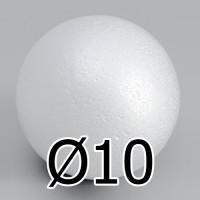 Шар из пенопласта 100мм, 1шт