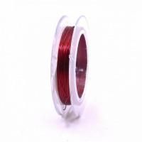 Проволока для бисера стальная Китай 0,3мм 10м (красный)