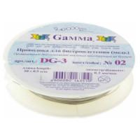 Проволока для бисера - Gamma - DG-3 (0,3мм) 12х10м±0,5м №02 под серебро