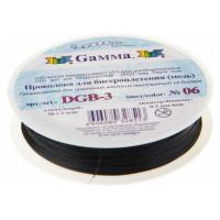 Проволока для бисера - Gamma - DGB-3 (0,3мм) 50м±2м №06 черный