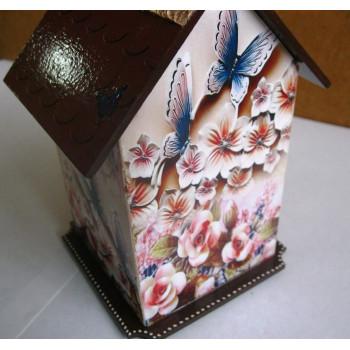Декупаж - Чайный домик маленький Летний (цветы бабочки)