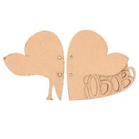 Альбом из 6-ти листов - Любовь в сердце (набор 6 деталей)