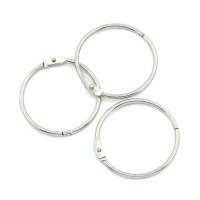 Кольцо для творчества (для фотоальбомов), серебро d=34мм, 1шт