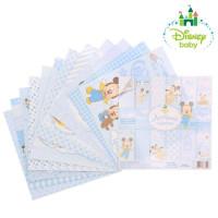 Набор бумаги для скрапбукинга Любимый сыночек Микки Маус, 12 листов 14,5х4,5см, 160 г/м2