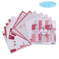 Набор бумаги для скрапбукинга Me to you Это-моя любовь 12 листов 15,5x15,5см, 180 г/м2