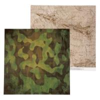 Бумага для скрапбукинга Military Карта действий 30,5x30,5см, 180 гр/м2, 1 лист