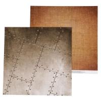 Бумага для скрапбукинга Military Льняная ткань 30,5х30,5см, 180 гр/м2, 1 лист