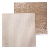 Бумага для скрапбукинга RusticWedding Льняной платочек 30,5х30,5см, 180 г/м2, 1 лист