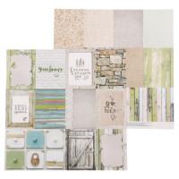 Бумага для скрапбукинга Naturals Карточки 30,5х30,5см, 180 г/м, 1 лист