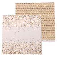 Бумага для скрапбукинга Звездное сияние Сияй ярче 30,5х30,5cм, 180 г/м2, 1 лист