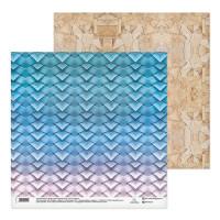 Бумага для скрапбукинга Плетеная корзинка 30,5х30,5см, 180 г/м2, 1 лист