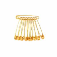 Булавка английская ООО (цвет — золото), 18 мм, 10 шт