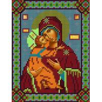 Канва для вышивки бисером Бисер К.А. СБИ-19 Божья Матерь Владимирская 14х18см