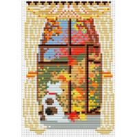 Набор для вышивания нитками и бисером Омская Рукодельница H-065 Окно Осень