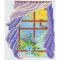 Набор для вышивания нитками и бисером Омская Рукодельница H-067 Окно Весна