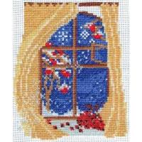 Набор для вышивания нитками и бисером Омская Рукодельница H-068 Окно Зима
