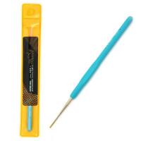 Крючок для вязания 1.0мм - Maxwell - металлический с резиновой ручкой, 1 шт