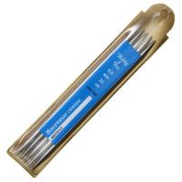 Спицы прямые 20см 6.0мм Hobby&Pro носочные металл 5шт