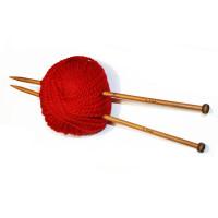 Спицы прямые 35см 9.0мм ZZD бамбук 2шт